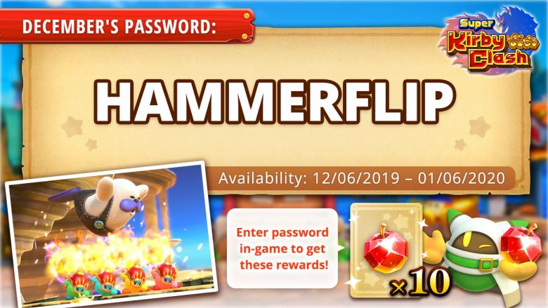 super_kirby_clash_gem_apples_hammerflip_code